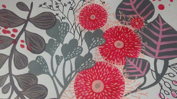 Floral 2- abstract - originale - abstract paint - wall decor