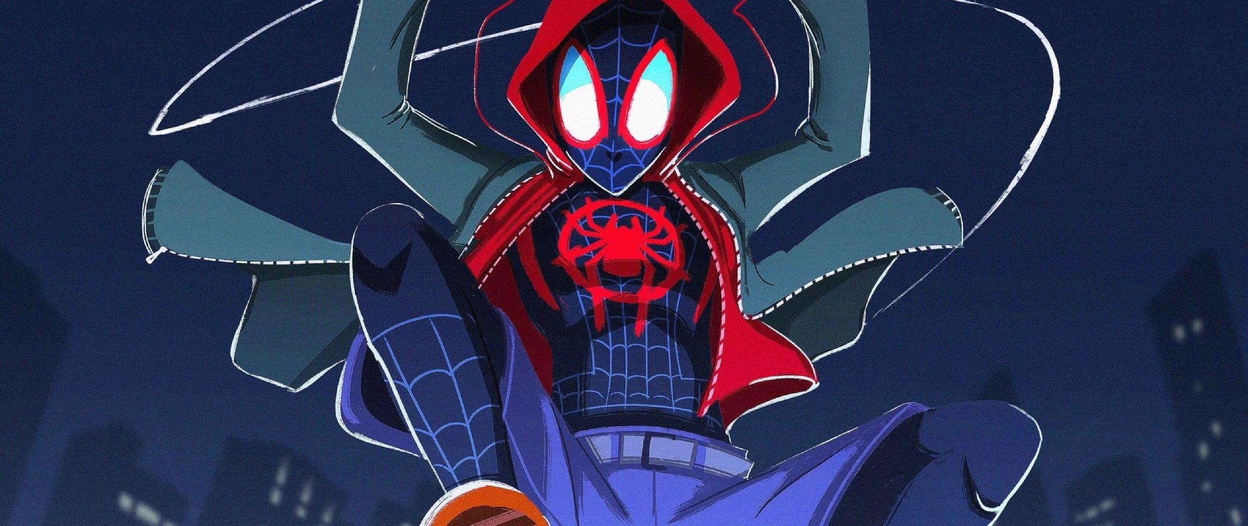 Download Spiderman Into The Spiderverse 2018 Fanart 2048x1152 Resolution Full Hd Wallpaper Cartoon Wallpaper Spiderman Spider Verse