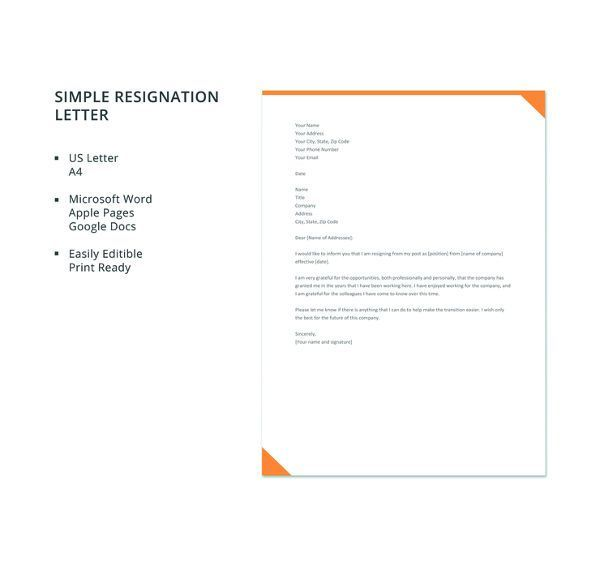 Pin by Joko on Business Templates in 2018 Pinterest Resignation