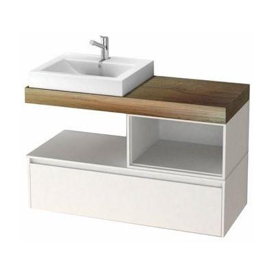 Arcom Inch Bathroom Vanity Cabinet With Offset Fitted Sink LAF - 41 inch bathroom vanity