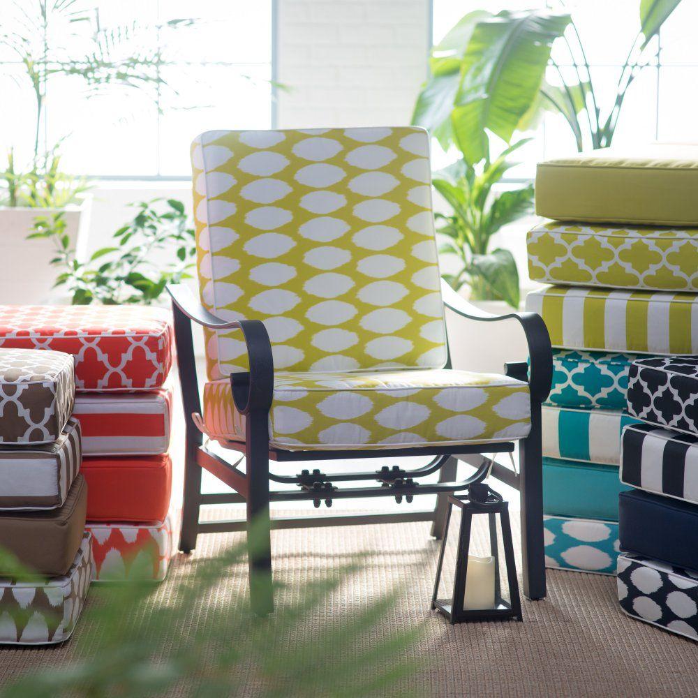 Coral coast lakeside hinged outdoor deep seating cushion