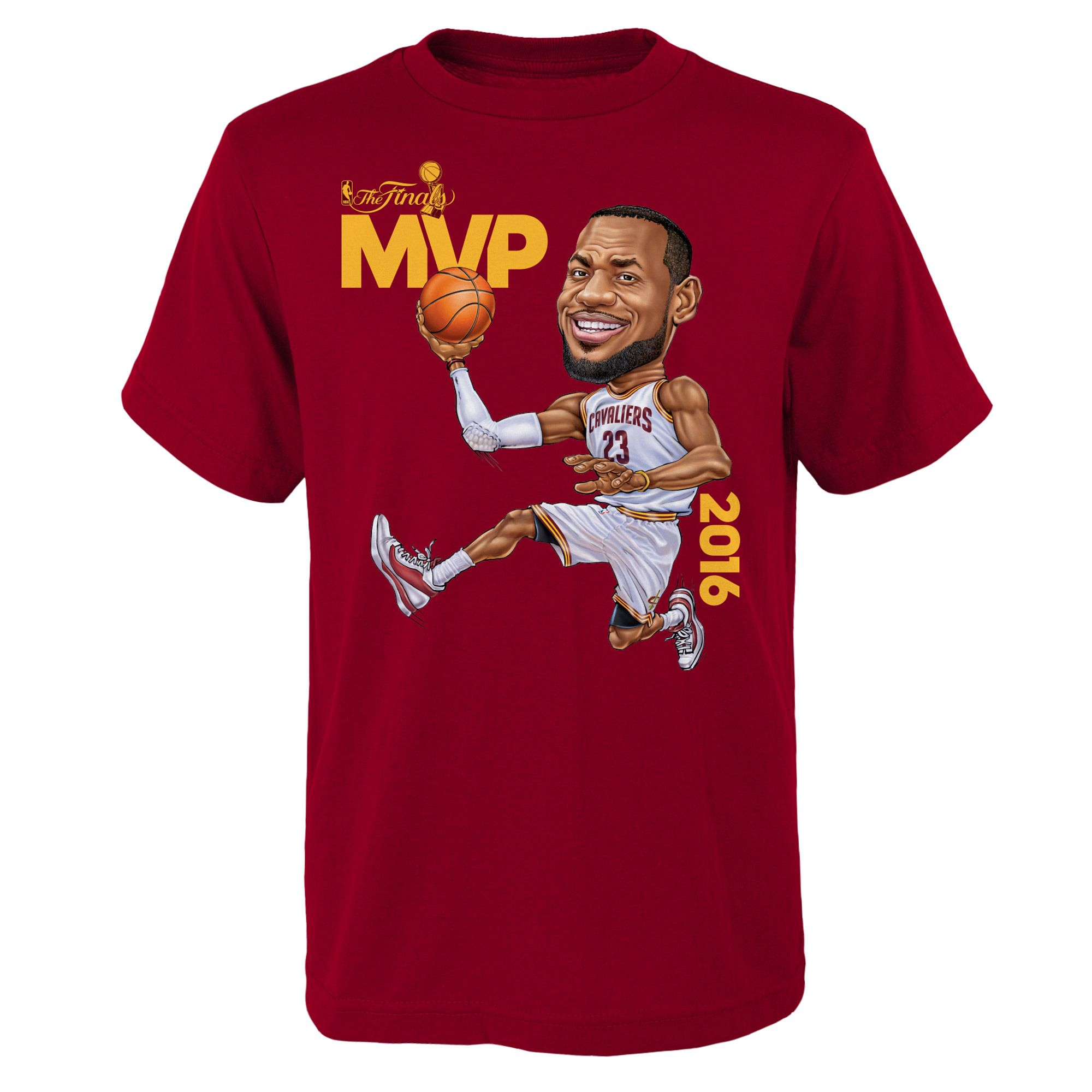 size 40 d14ae 54f80 LeBron James Cleveland Cavaliers adidas Youth 2016 NBA Finals Champions MVP  T-Shirt - Burgundy