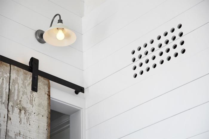 Architectural Detail Owl Hole Heating Vent Remodelista Barn Lighting Barn Style Sliding Barn Door Hardware