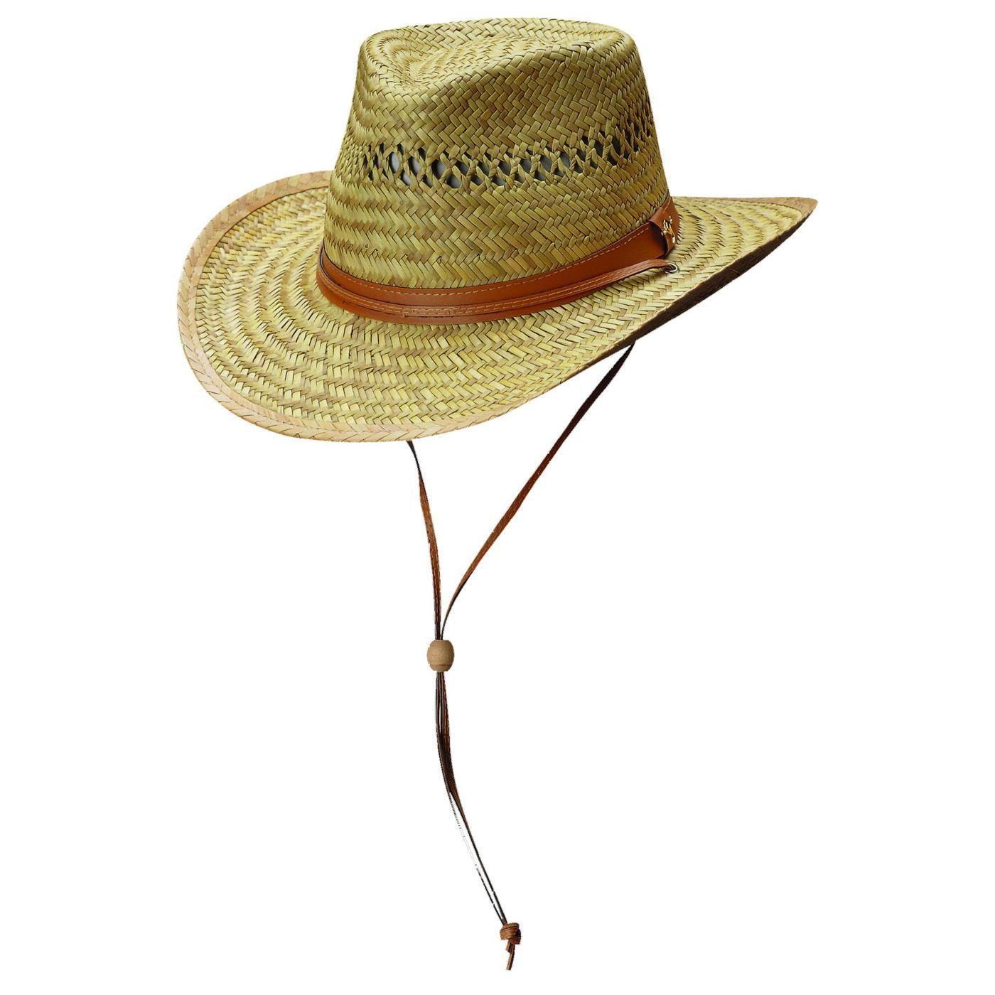 a3d062e4b1e11 Casual Rush Straw Outback Hat with Chin Cord by Dorfman Pacific. Whether  you re on the Australian Outback or in your backyard