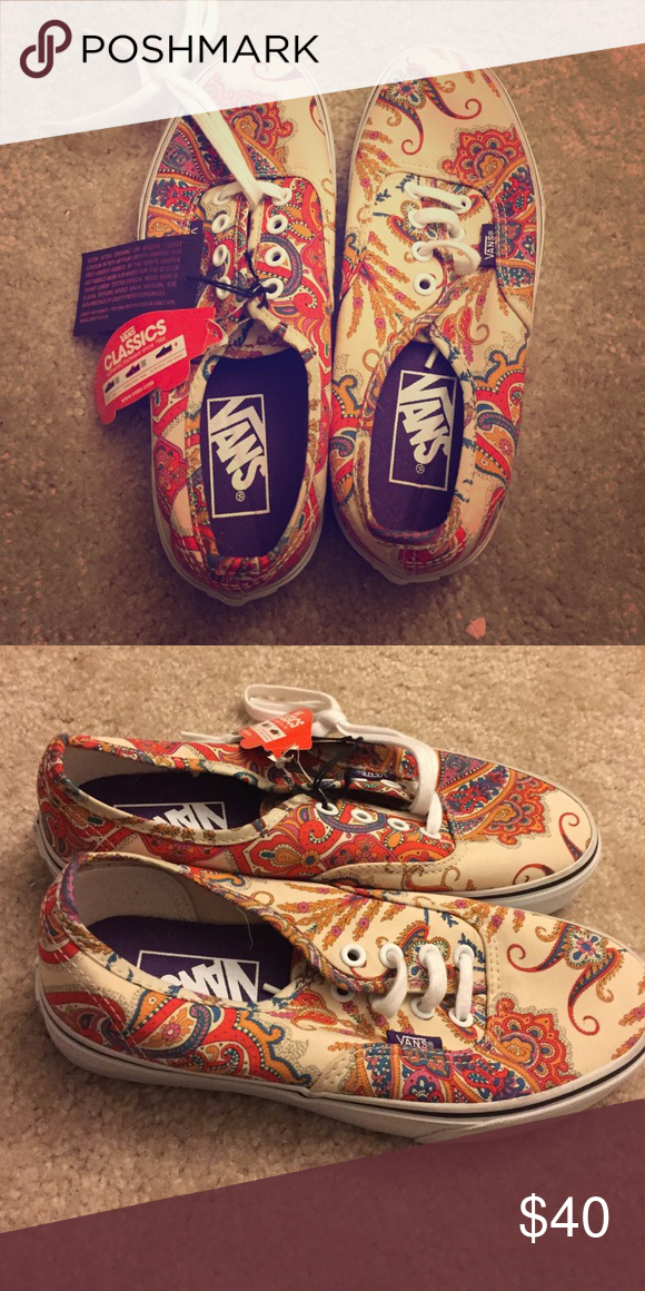 52fb19399ea895 Paisley Vans Paisley Vans. Women s 6. NEVER WORN. still has tag Vans Shoes  Sneakers