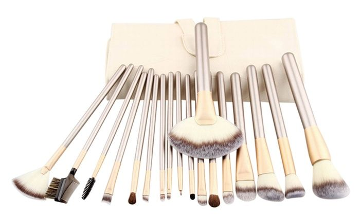 Professional Champagne Colored Makeup Brush Set 12 18 Or 24 Piece Makeup Brush Set Brush Set Makeup Brushes
