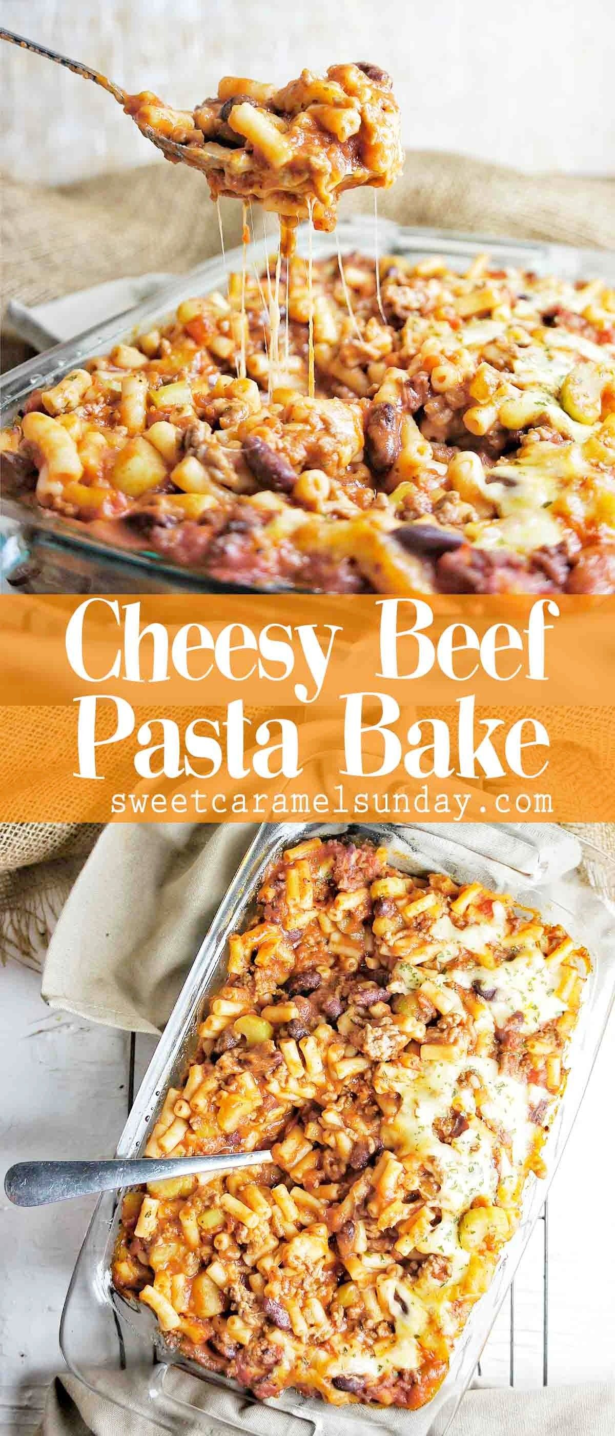 Cheesy Ground Beef Pasta Bake In A Rich Tomato Sauce Oven Baked To Perfection Cheese Easy Pasta Dinner Recipes Delicious Healthy Recipes Ground Beef Pasta