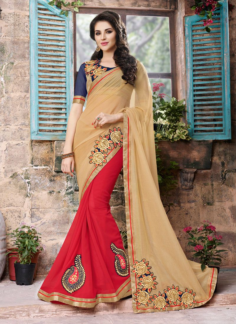 http://www.sareesaga.com/index.php?route=product/product&product_id=21764 Style:Designer SareeShipping Time:10 to 12 Days Occasion:Party FestivalFabric:Georgette Colour:Beige Work:Embroidered Patch Border Work For Inquiry Or Any Query Related To Product, Contact :- +91-9825192886, +91-7405449283
