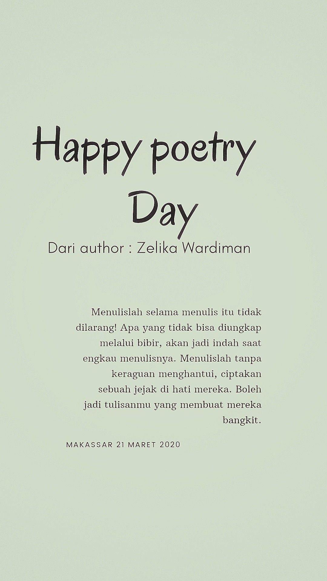 Happy Poetry Day Kutipan Motivasi Menjadi Penulis Motivasi