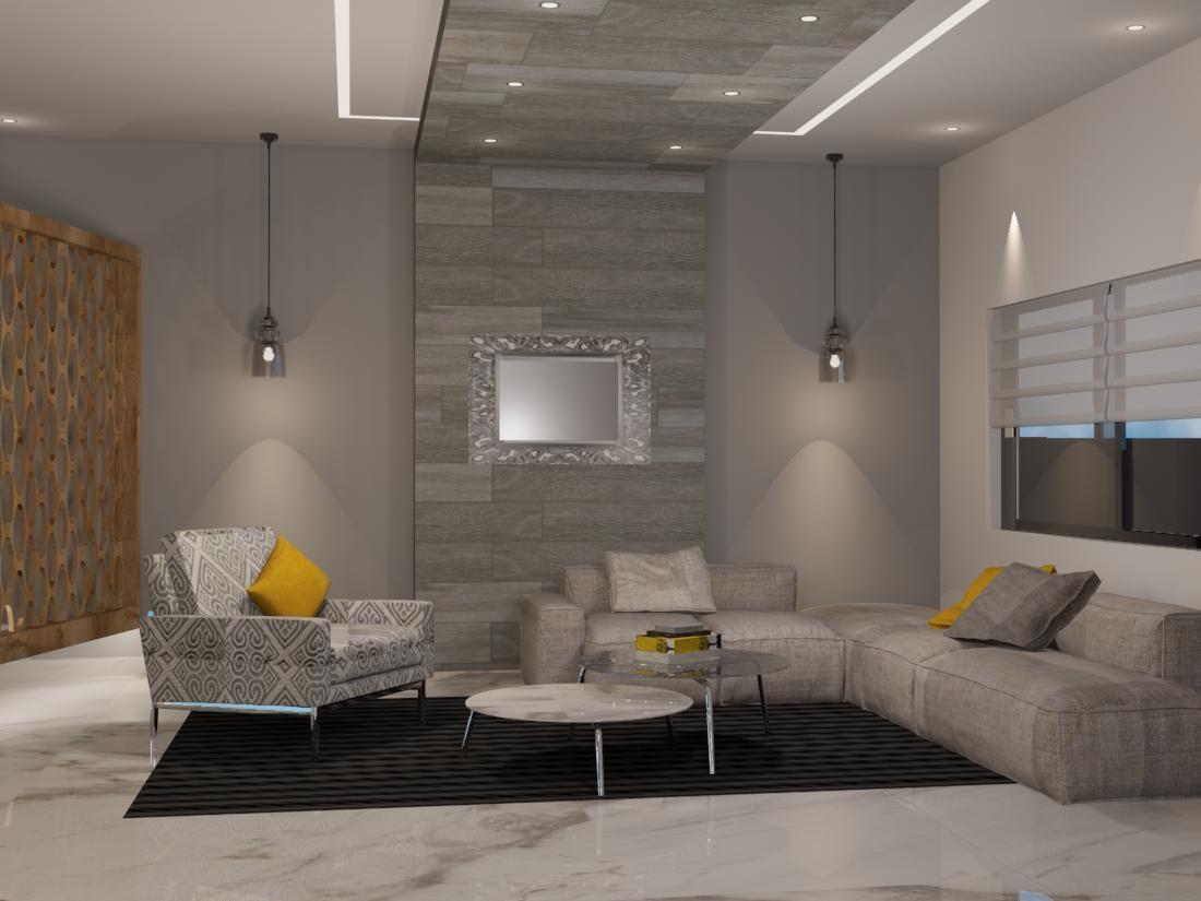 sala de estilo contempor neo materiales utilizados muro