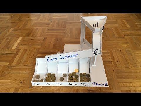 Automatische Geld Sortiermaschine Aus Karton Machen Diy Youtube