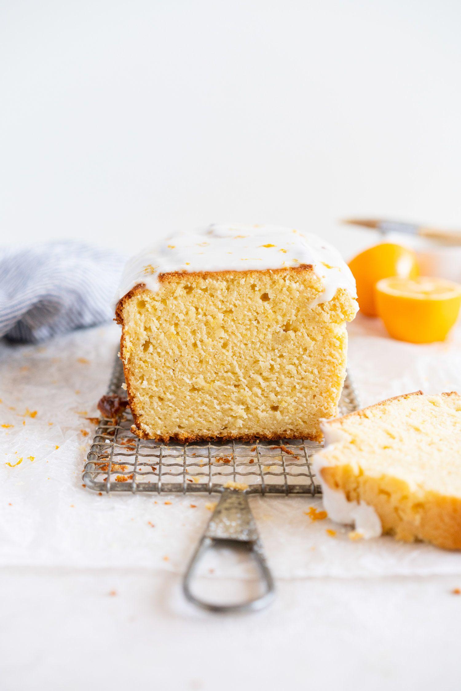 Lemon And Sour Cream Loaf Cake With Lemon Glaze Recipe Cake Recipes Baking Almond Recipes