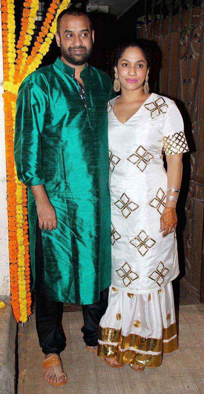 Masaba Gupta and husband-to-be Madhu Mantena at their mehendi ...