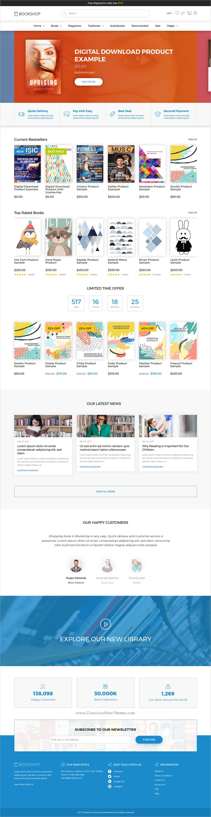 BookShop is clean and modern design 3in1 responsive #Shopify theme for stunning online #book store #eCommerce website download now >> https://themeforest.net/item/shopify-theme-for-books-media-online-store-downloadable-products-bookshop/19832727?ref=Datasata