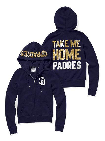 new products 57567 2d9f3 San Diego Padres Bling Zip Hoodie - Victoria's Secret Pink ...