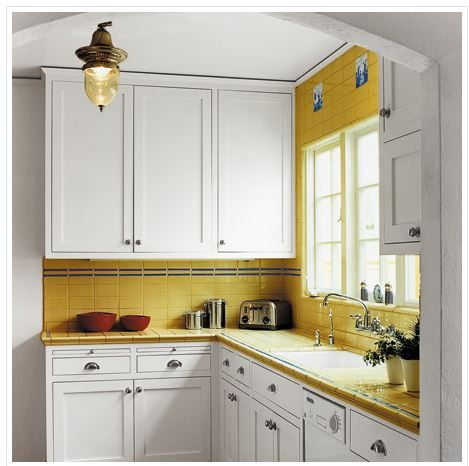 Gorgeous colourful small kitchen  Need Kitchen Decorating Ideas? Go to Centophobe.com   #Kitchen #kitchen decorating ideas