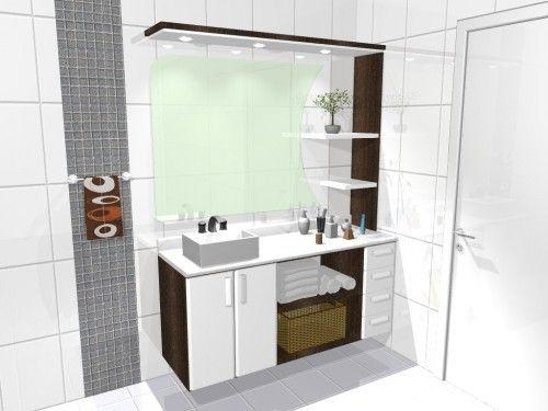 Movel De Banheiro Planejado : Pin de ro pinto e bordo em banheiro
