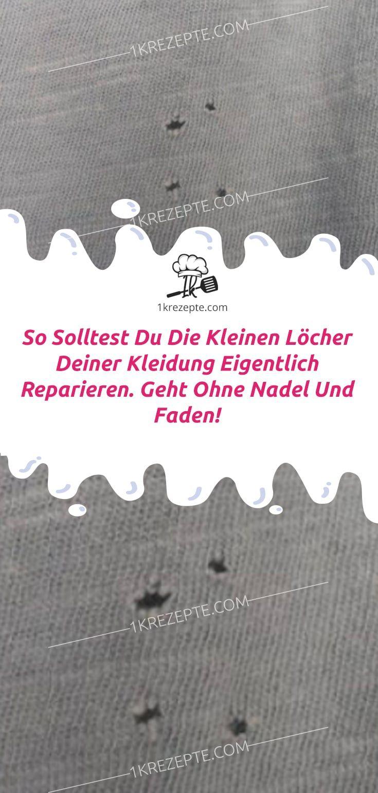 So solltest du die kleinen Löcher deiner Kleidung eigentlich reparieren. Geht ohne Nadel und Faden! #tippsundtricks
