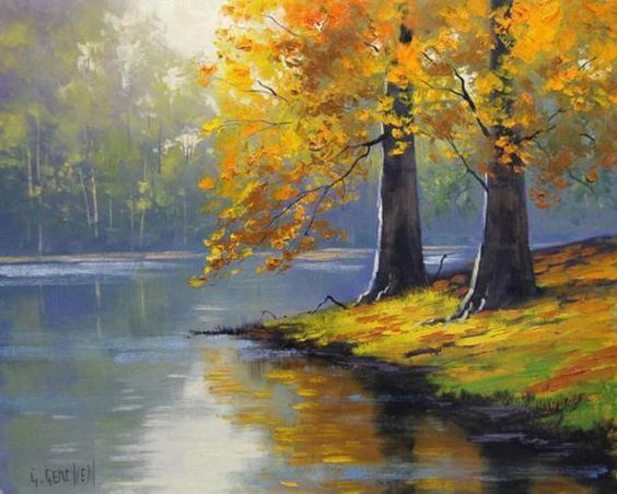 Landscape Oil Paintings On Pinterest Palette Knife Abstract Oil Oil Painting Landscape Autumn Painting Tree Painting