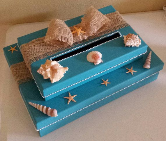 Beach Themed Two Tier Money Card Gift Box Perfect For A Wedding