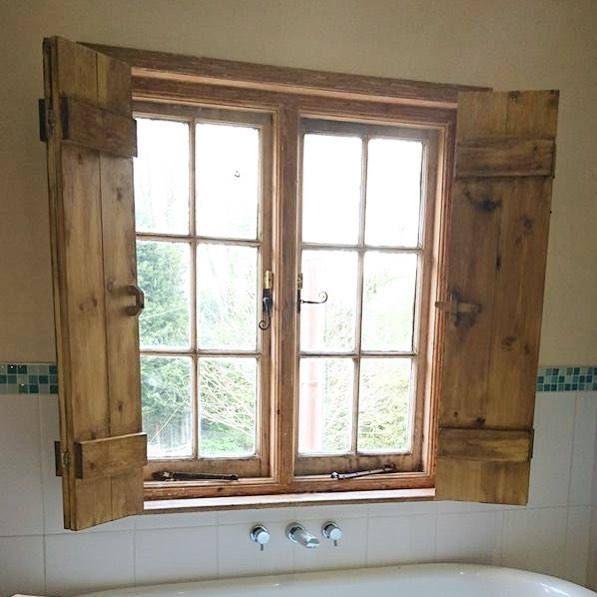 Bathroom Window Shutters Wooden Doors Treatment