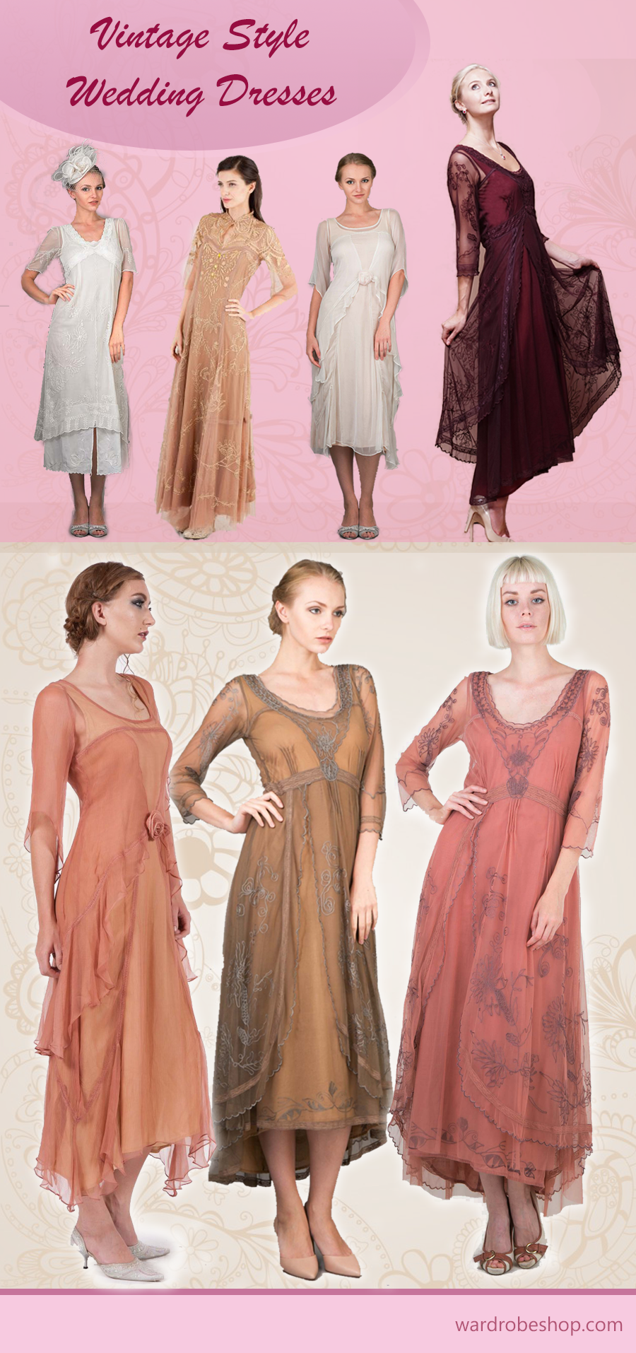Vintage Style Wedding Dresses | wearable stuff | Pinterest ...