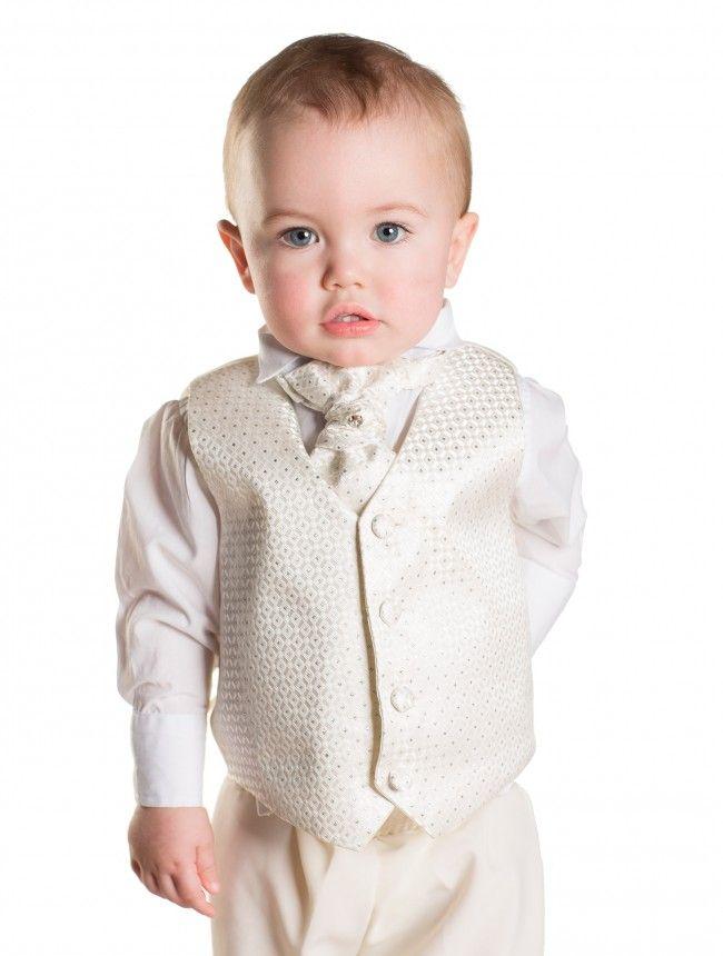 Baby boys ivory waistcoat suit - Solomon | Ivory, Ivory wedding ...