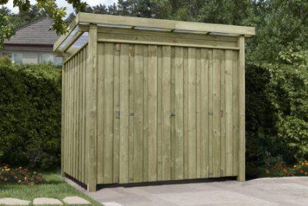 Simple Ger tehaus Holz mit Flachdach Typ Gartenhaus x cm Amazon de