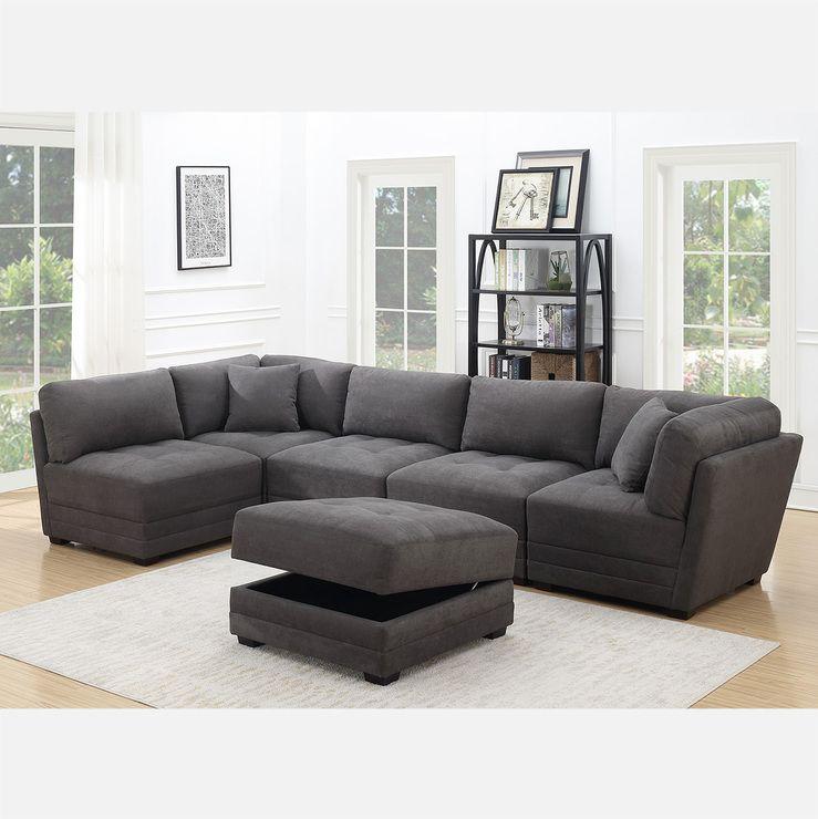 Costco Mstar Ethan Sofa Modular Tela 6 Piezas Sofas Modulares Muebles Sala Diseno De Interiores Salas