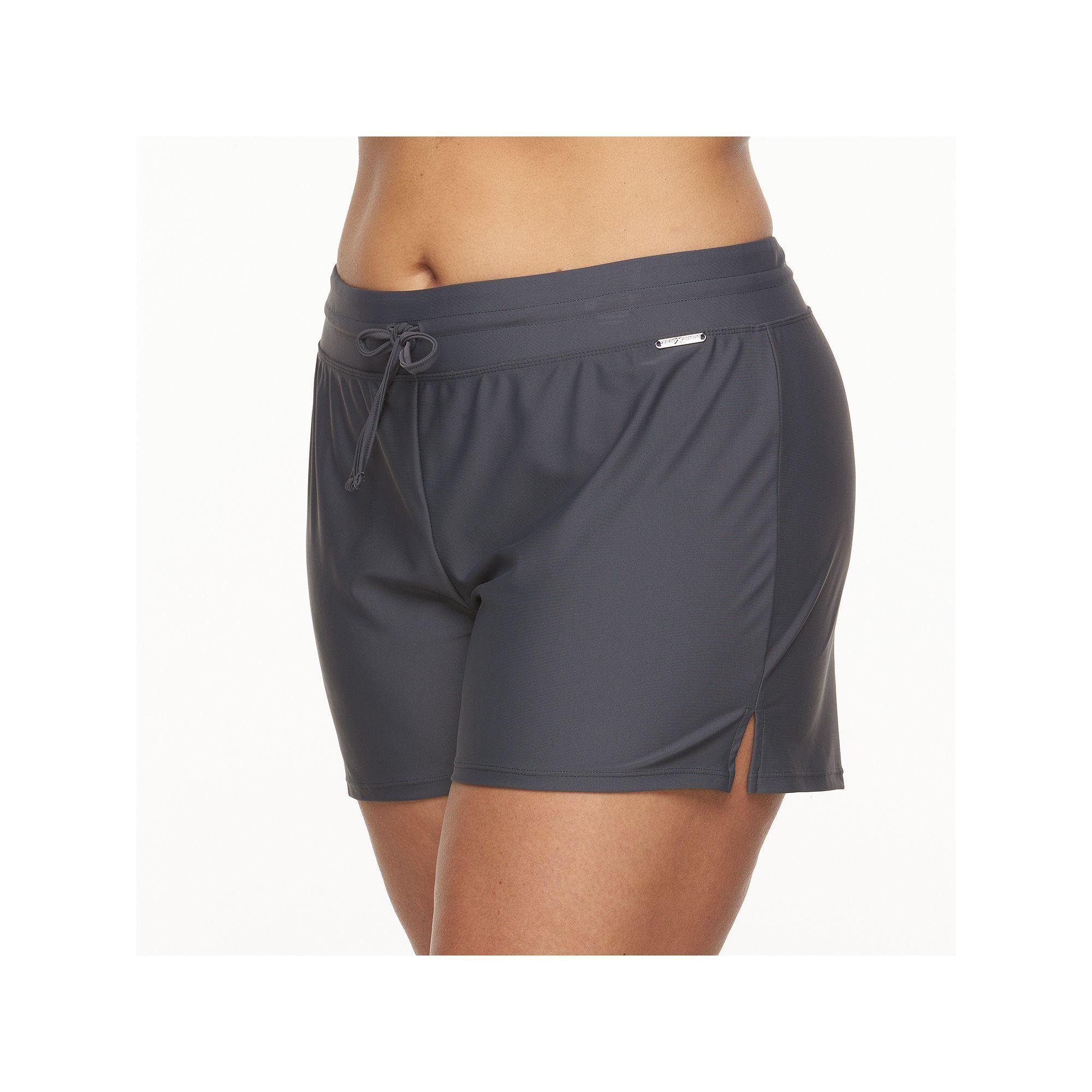 412ee0fe0a Plus Size ZeroXposur Solid Swim Shorts, Women's, Size: 20 W, Med Blue