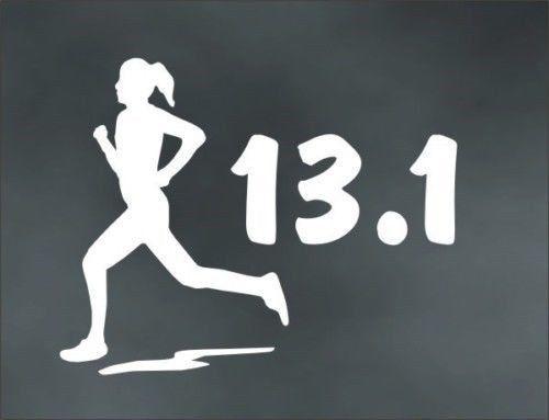 """13.1 Half Marathon Female Decal Sticker Runner Logo Run *Brand NEW Design 3/"""""""