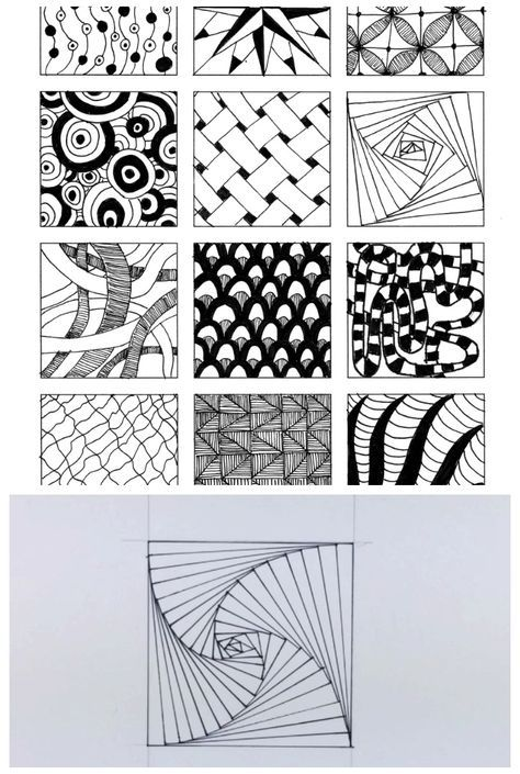Inspired By Zentangle: Patterns and Starter Pages