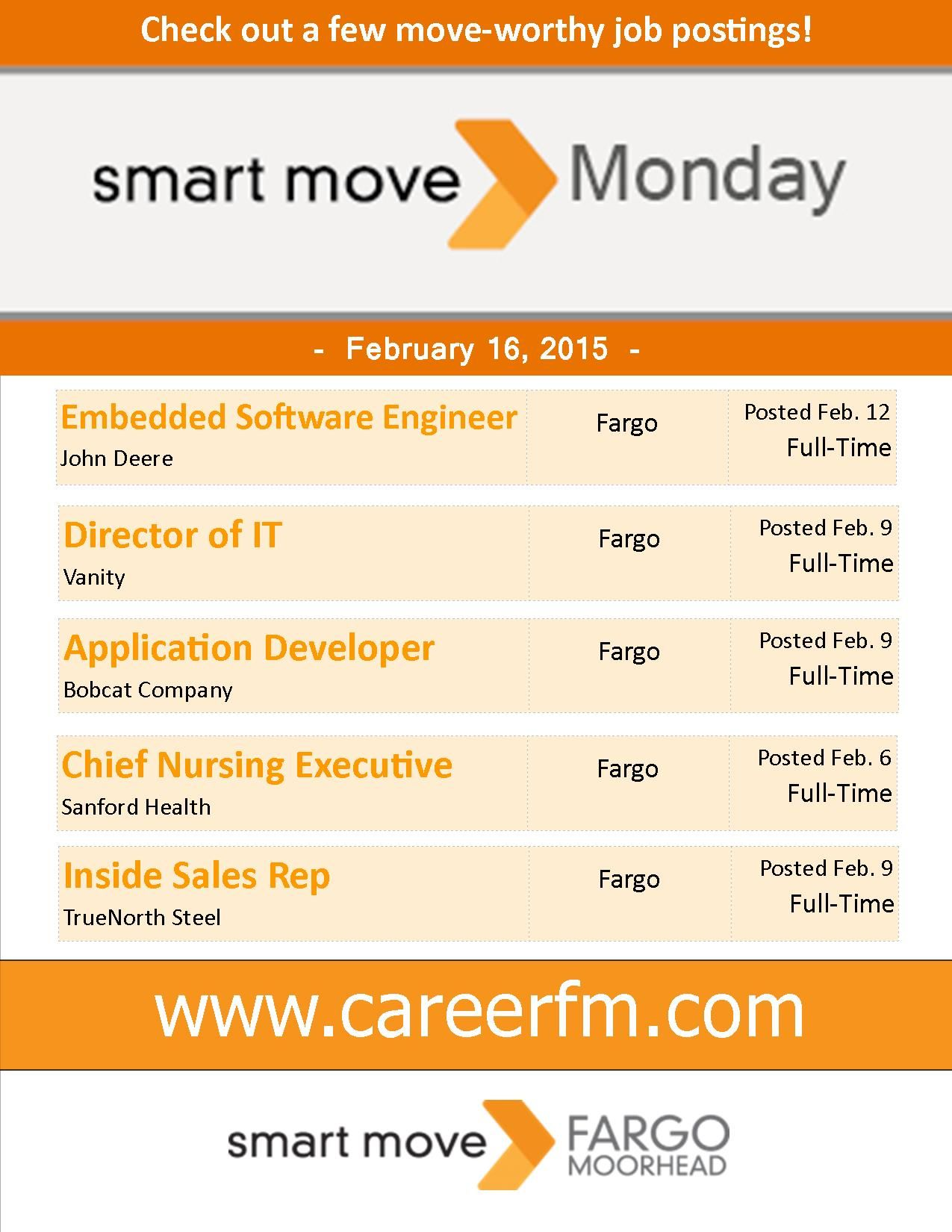 See more great jobs like these at www.CareerFM.com!