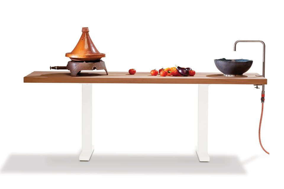 The Field Kitchen Is A Piece Of Furniture That You Set Up In Early Spring  And