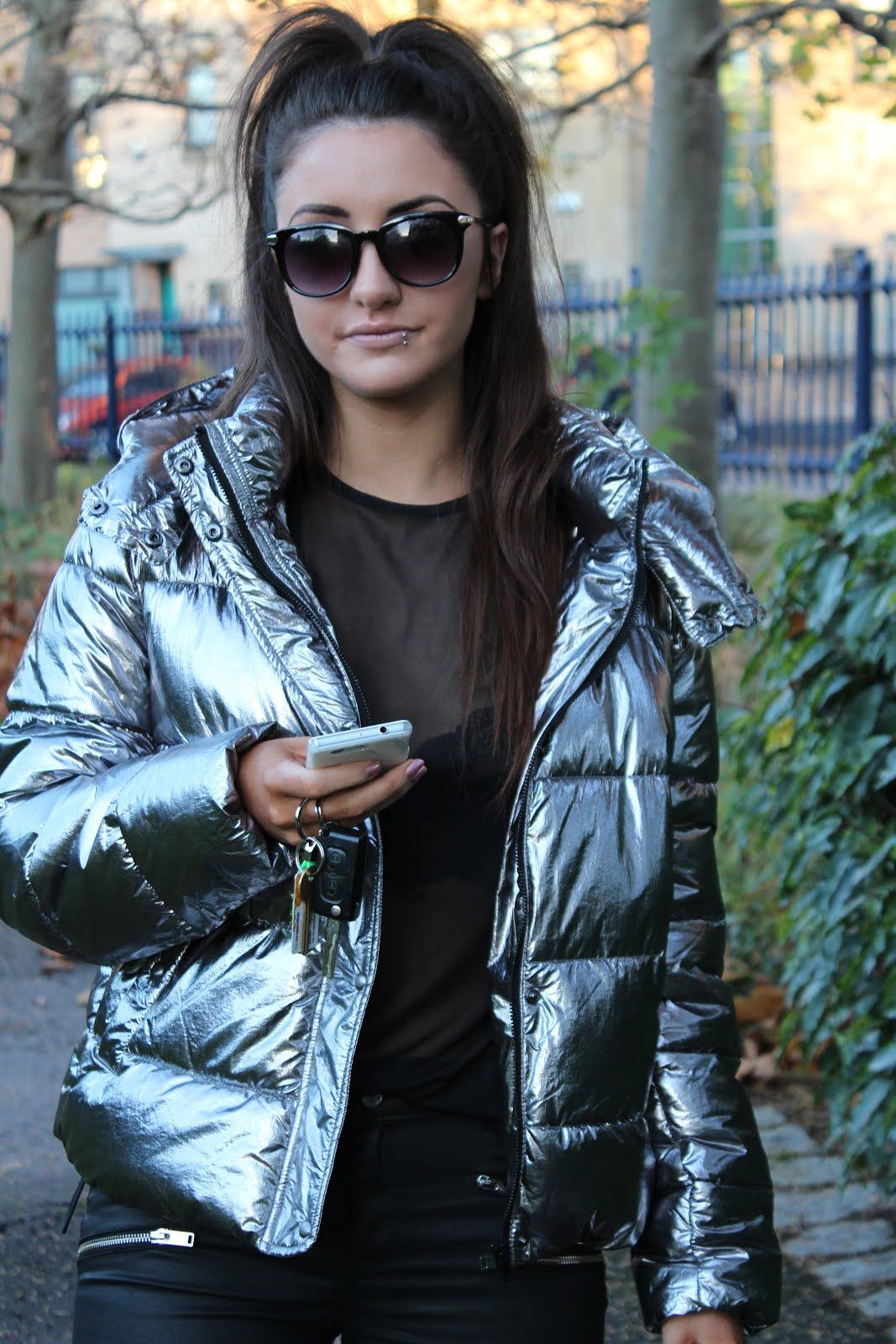 Zara This Seasons Must Have Silver Puffer Fashion