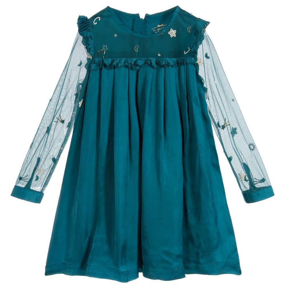 3e13f4458dad Girls Cupro Silk   Tulle Dress
