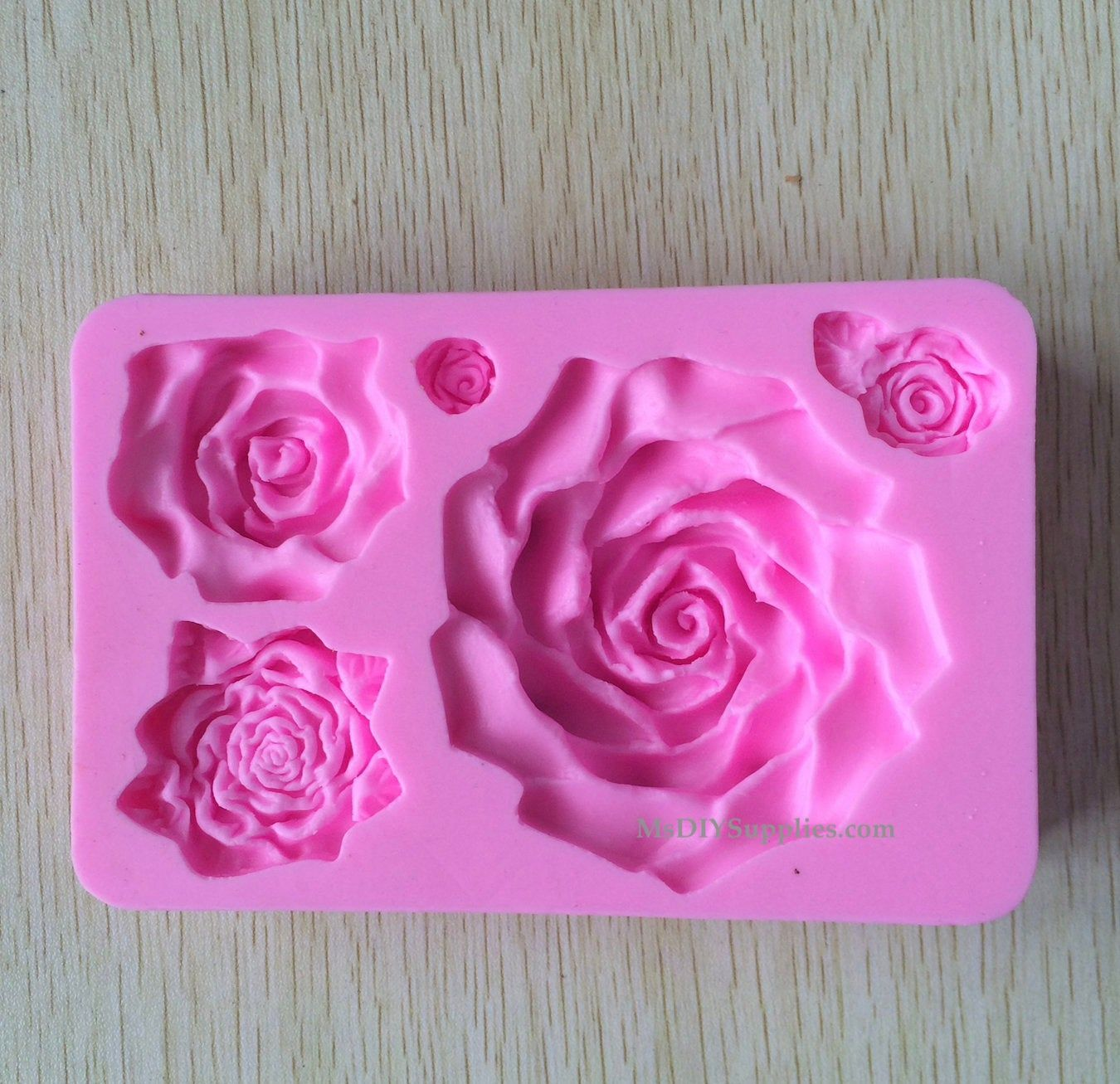Big Rose Flower Silicone Mold For Wedding Cakes 3d Soap Molds Sugarcraft Tools Cake Decorating Cake Molds Silicone Soap Molds Silicone Molds