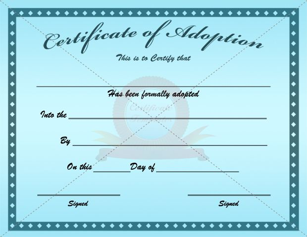 Fake adoption certificate fake certificate pinterest adoption certificate yadclub Gallery