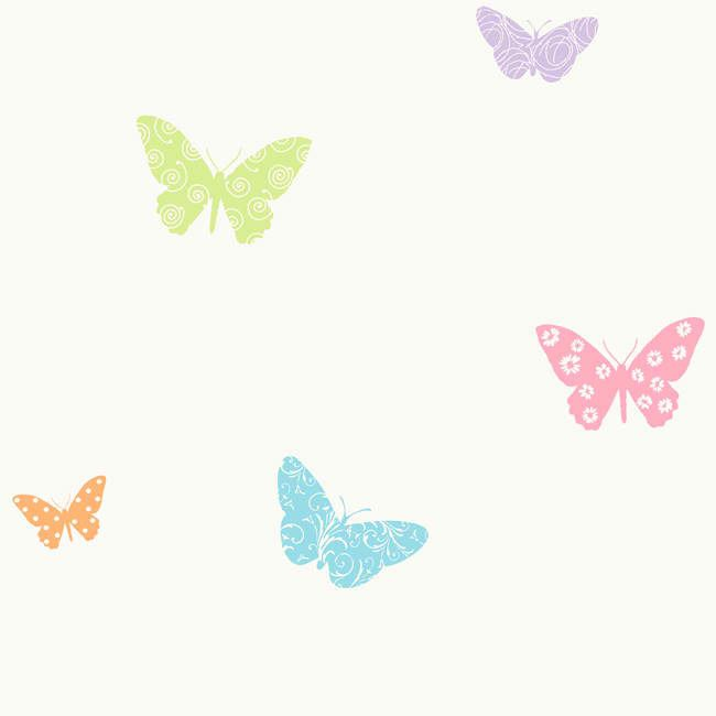 Purple Butterfly Background Purple Blue Kd1706 Butterfly Wallpaper Baby Nursery Kids