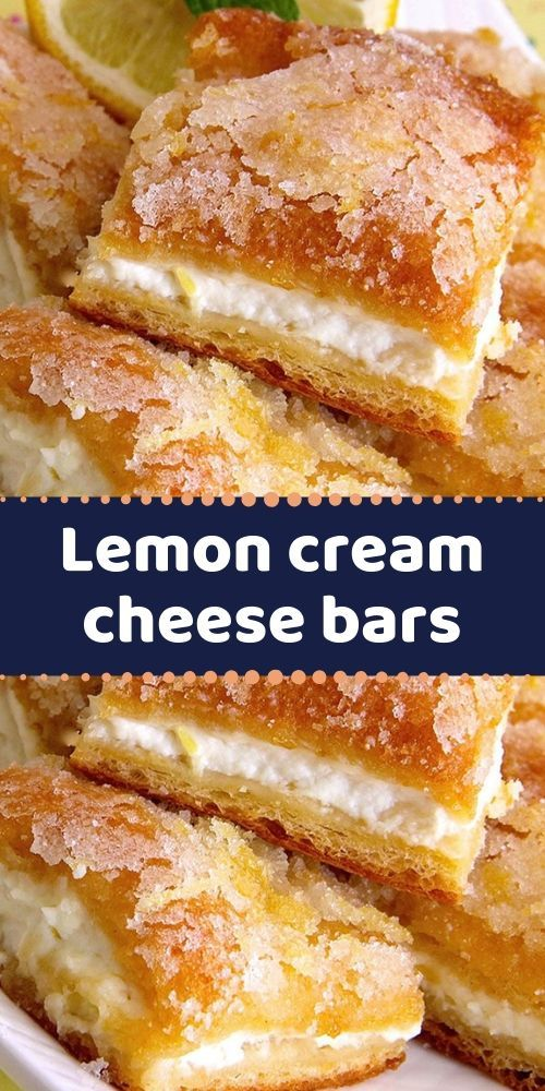 Lemon cream cheese bars are a variation of the traditional lemon bars, made with…