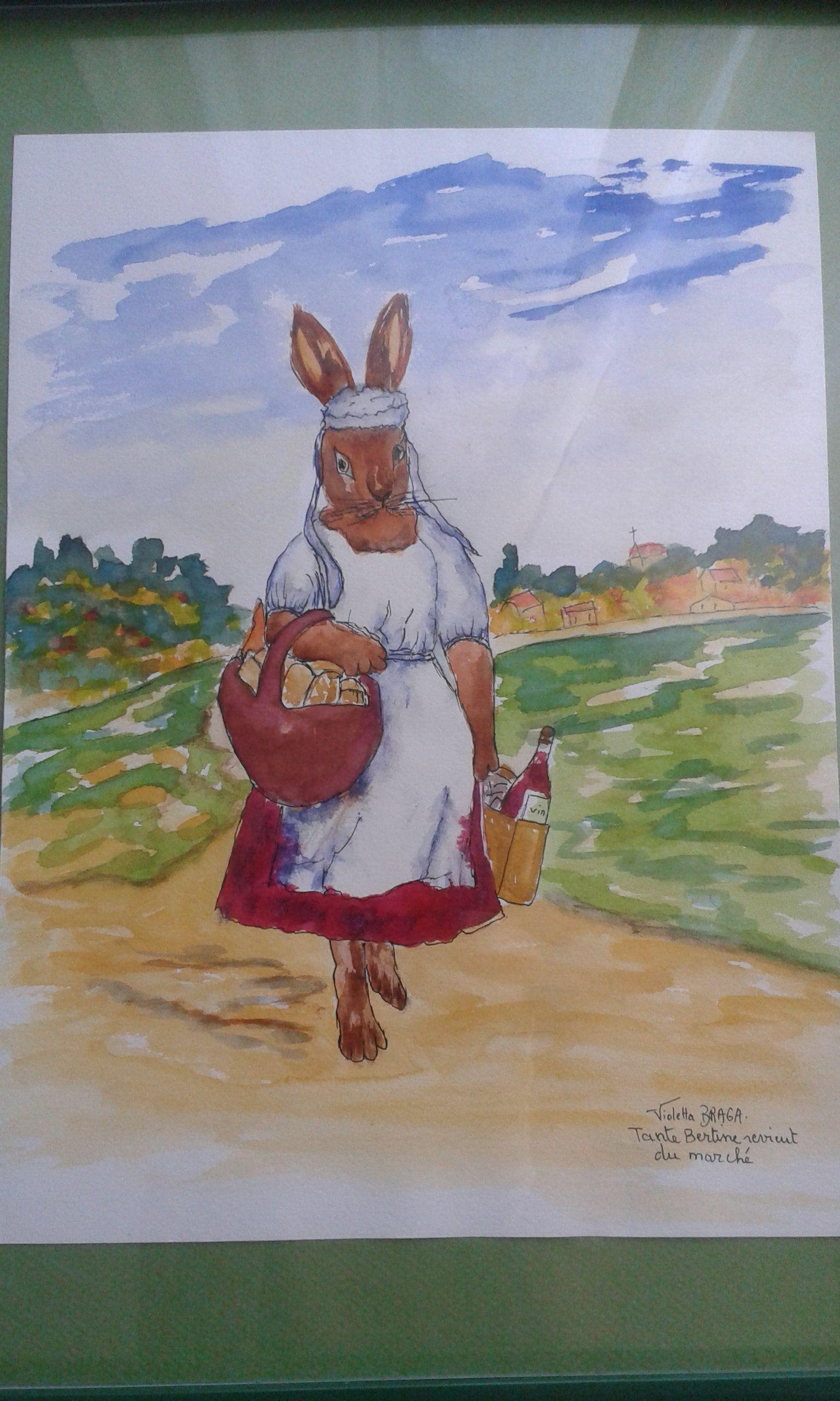 Aquarelle Illustree Lapin Reserve Defi Juin 2019 Peinture A L Eau