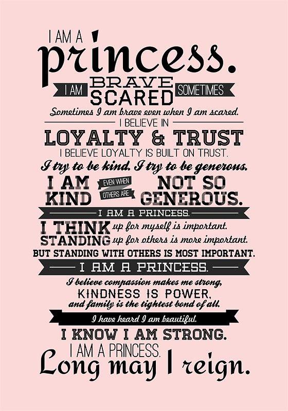 I Am A Princess Canvas Print By Certainasthesun Disney Princesses