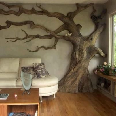 add fake leaves and flatten the surface on the branches to use as ...