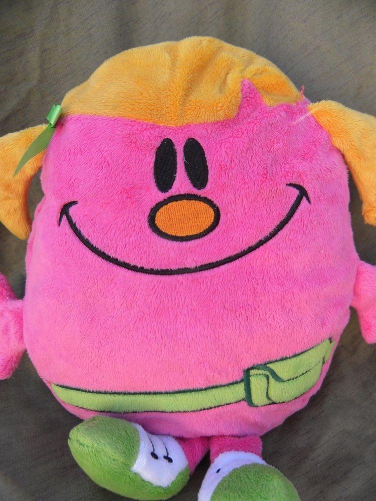 Little Miss Helpful Plush Doll Soft Toy Stuffed Pink Mr Men Little Character #ThinkWowToys