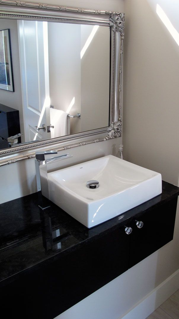 Offset Faucet Shallow Vessel Sink Van Arbour Design Bathrooms