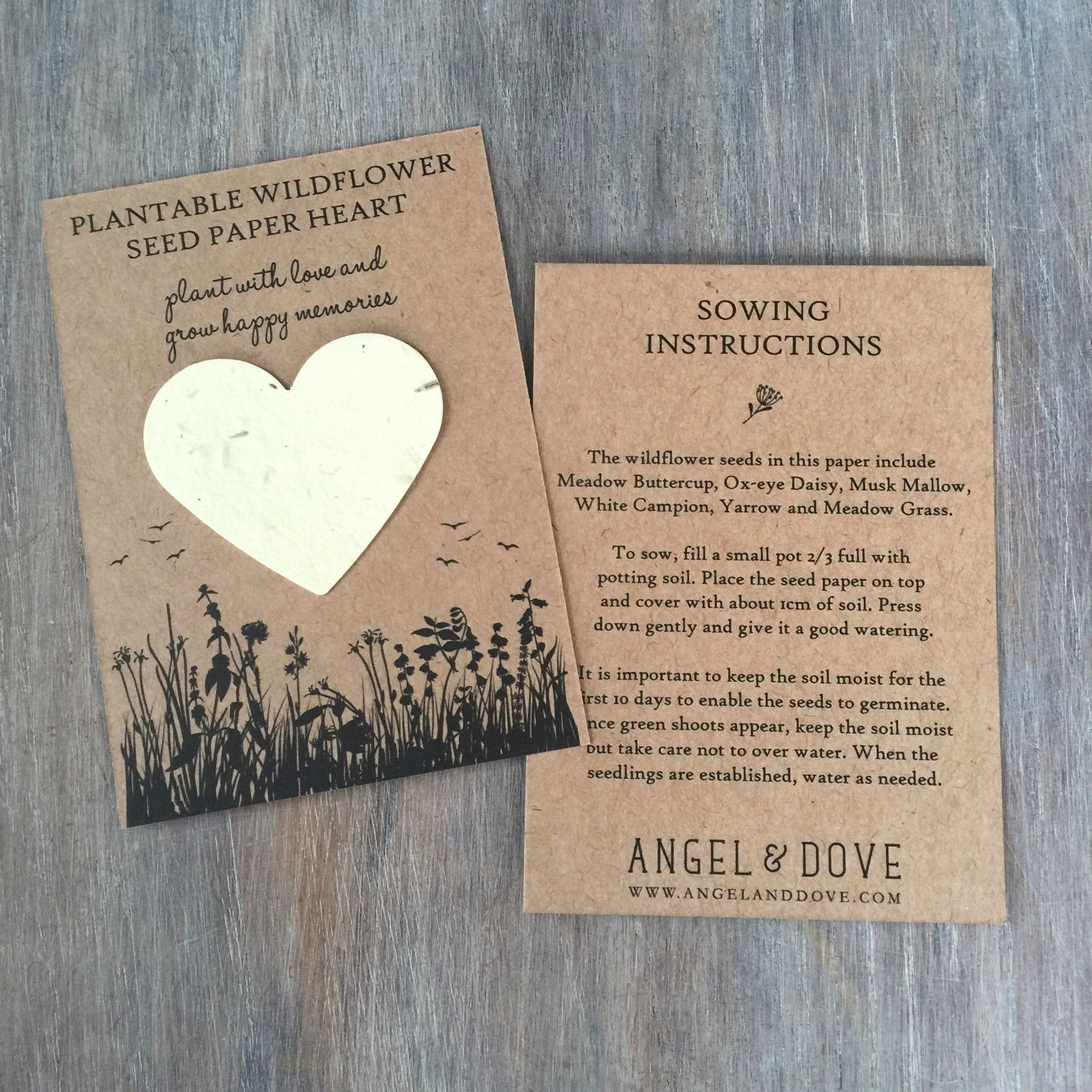 10 for me not seed packet funeral favours by angelanddove