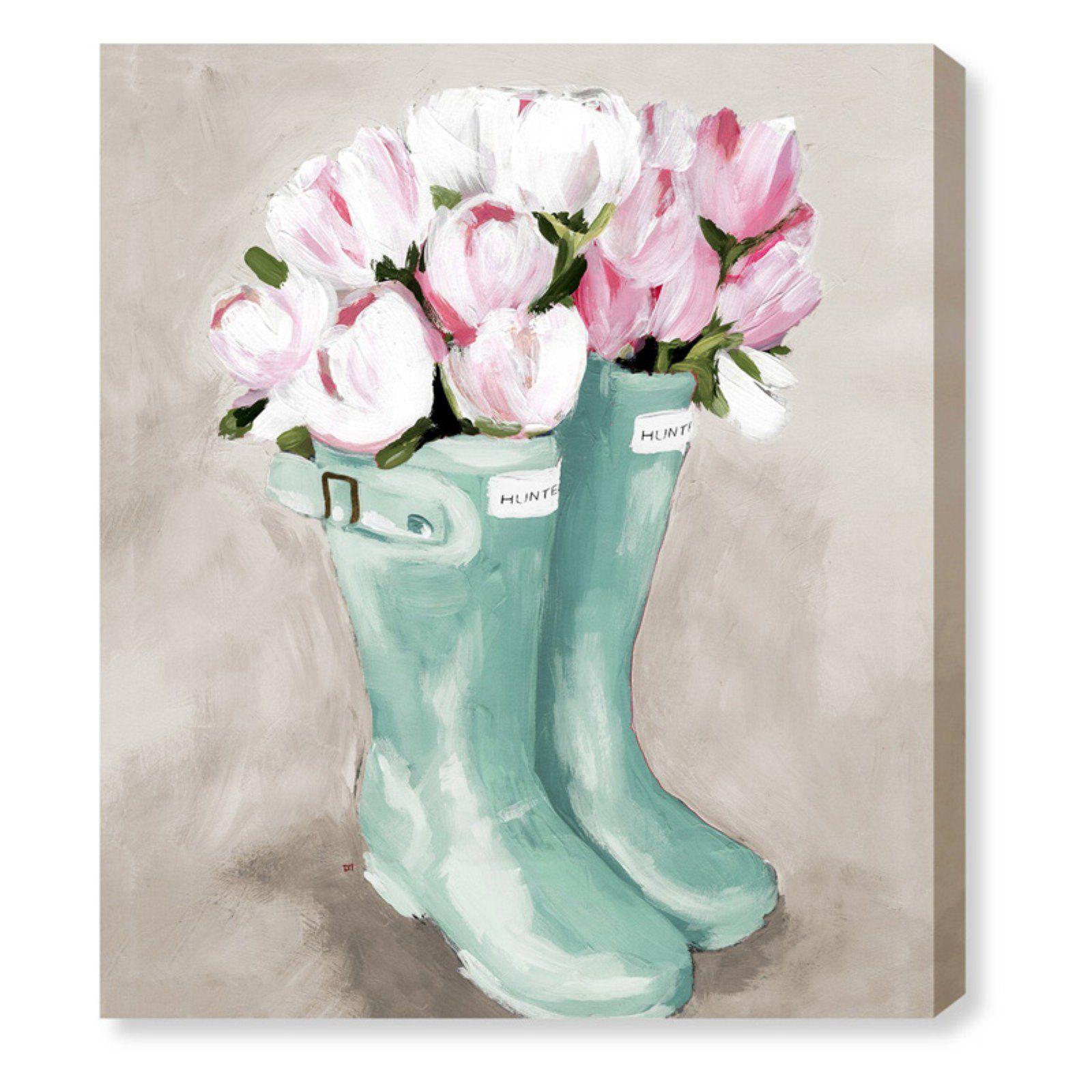 Cool Art Ideas Flowers Rain Boots