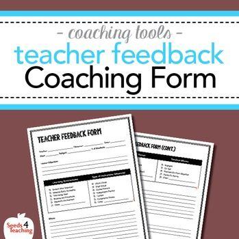 Instructional Coaching u2013 Teacher Walkthrough Feedback Form - coach feedback form