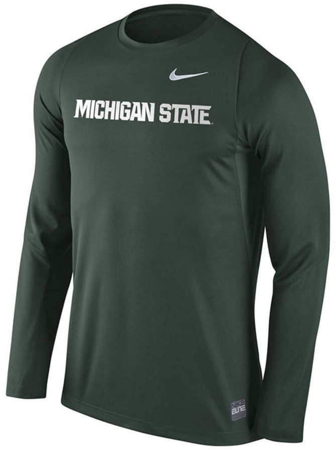 304011bd948 Dress like a shooter with this Nike NCAA Elite Basketball Shooter t-shirt.  The Michigan State Spartans graphics at the front make this tee s statement  even ...