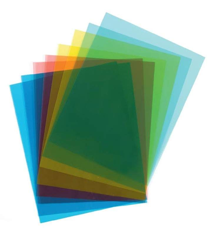 colored transparent sheets by impact images 7259990000for use with light tables - Colored Transparent Sheets